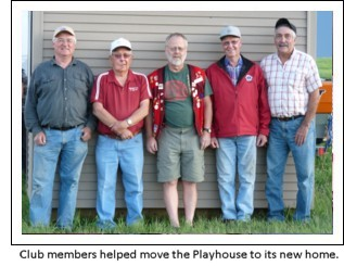Some of the Club Members who helped worked on the 2009 Lions Playhouse.